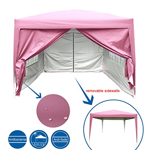 Quictent Silvox 8x8' EZ Pop Up Canopy Gazebo Party Tent with Carry Bag Waterproof-7 Colors (Beige)
