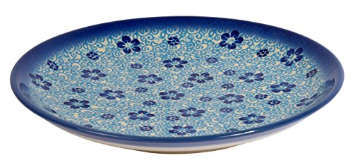 Traditional Polish Pottery, Handcrafted Ceramic Dessert Plate 19cm, Boleslawiec Style Pattern, T.102.Flow