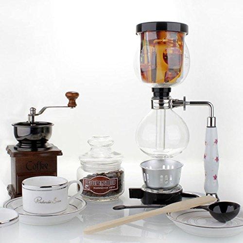 3 Cups Glass Syphon Coffee Maker Machine Brewer Siphon Vacuum Pot Filter Bottle