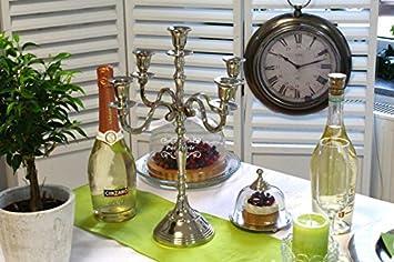 Unbekannt Kerzenstander 5 Armig Alu Vernickelt Silber Deko Tischdeko