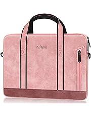Alfheim lederen mouw aktetas geschikt voor 13-13.3 inch laptop zakelijke handtassen voor slanke schoudertassen voor dames en heren