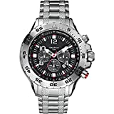 Nautica Watches Mens NST Stainless Steel Chronograph Watch
