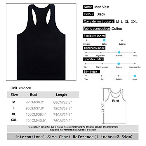 Muscle Stringer Canotte Gym Sport Maniche Canotta Stile Top Bodybuilding Athletic Uomo Senza Sidiou Training nero Group Palestra Cotone 1 PFxqPpw