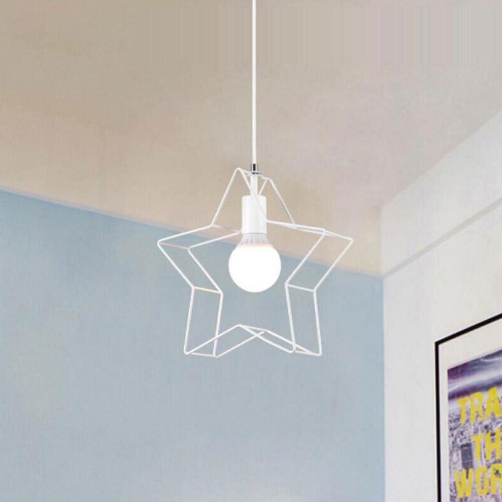 Couleur : Noir Star Iron Chandelier Modern Minimalist Creative High Quality Plafonniers Lampes De Plafond Salle De Jeux Pour Enfants Luminaire Couloir Balcon Simple T/ête Lampe Suspension