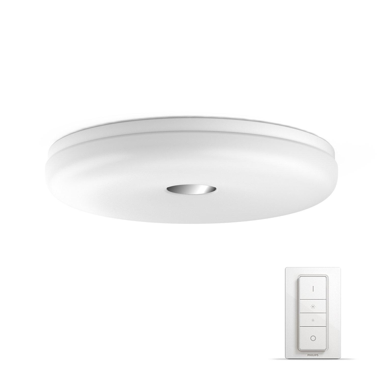 Philips Hue LED Deckenleuchte   Badezimmerleuchte Struana inkl. Dimmschalter, dimmbar, alle Weißschattierungen, steuerbar via App, weiß, kompatibel mit Amazon Alexa (Echo, Echo Dot)