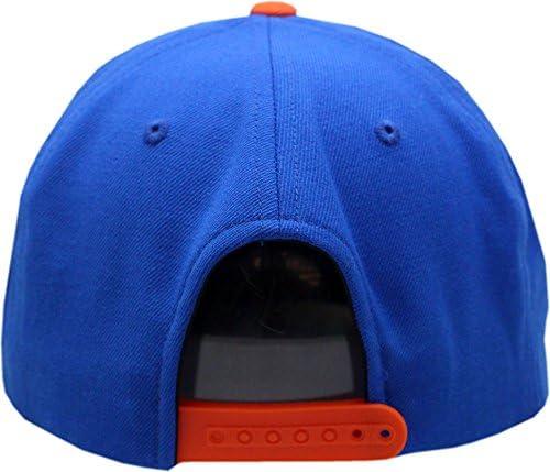 Detroit Tigers Snapback Flat Bill Big Show 1967-77 Logo Orange//Blue