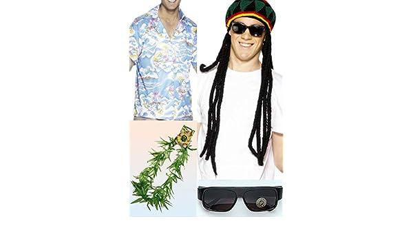 Magic Box Hombres Reggae Bob Marley Estilo Traje de Rasta Medium ...
