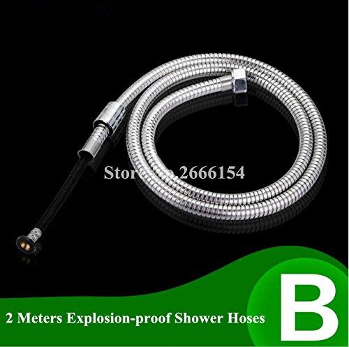 Bathroom Accessories, Anti-Twist Shower Hose 1.5M/2M/3M Stainless Steel Explosion-Proof Chrome Shower Head Bathroom Water Hose Navy Blue