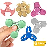 SCIONE Fidget Spinner Mini Rainbow Metal Toy 6 Pack Hand Finger Figit Spinner for Relieving Boredom ADHD, Anxiety