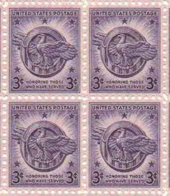 3 Cent Postage Stamp (Honoring Those Who Have Served Set of 4 x 3 Cent US Postage Stamps NEW Scot)