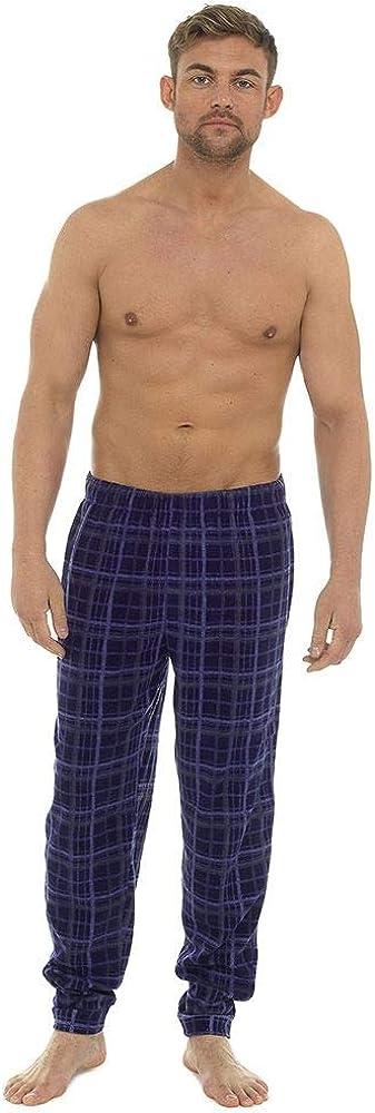 Undercover Mens Fleece Pyjama Lounge Pants M-2XL Plain or Patterned