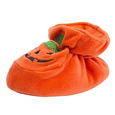 Fiaya Halloween Shoes, Newborn Infant Baby Girls Boys Halloween Flock Pumpkin Socks Soft Sole Shoes
