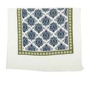 Tibetanos damasco azul blanco verde 100% algodón cocina toalla de té (40cm x 60cm