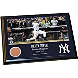 Derek Jeter Final Yankee Moment 8 Inch x10 Inch MLB Major League Baseball Authentic Yankee Stadium Game Used Dirt Plaque