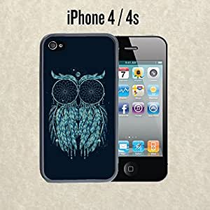 iPhone Case Owl Dream Catcher Print for iPhone 4 / 4s Plastic Black (Ships from CA)