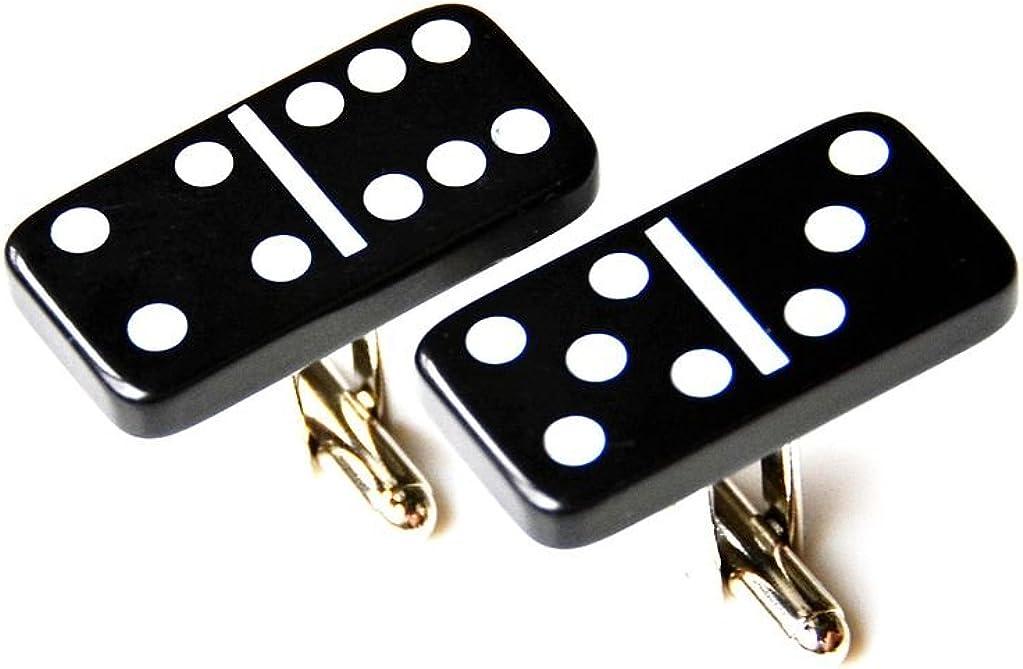 Quality Handcrafts Guaranteed Black Mini Dominos Cufflinks