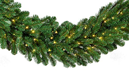 Red Sleigh Oregon Fir Commercial Grade Holiday Wreaths with Matching Christmas Garland Greenery (20