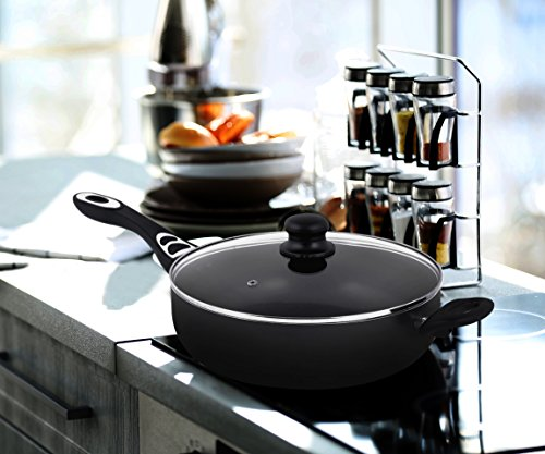 Utopia Kitchen Aluminum Nonstick 11 Inches Jumbo Cooker - Sauté Pan - Deep Frying Pan with Glass Lid - 4.6 Quart - Dishwasher Safe by Utopia Kitchen (Image #6)