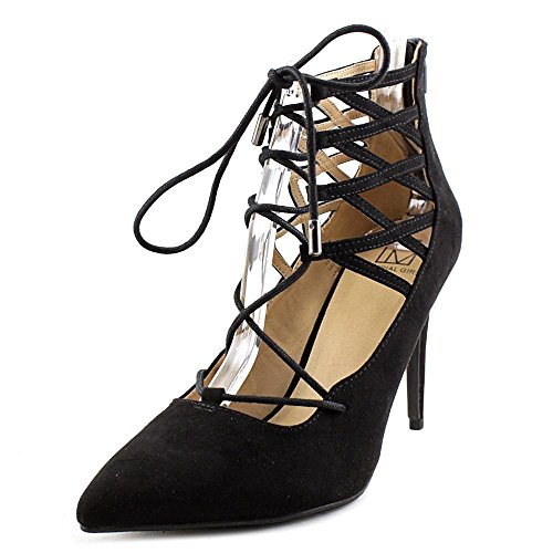 Girl Pumps Womens Black Ankle Classic Material Pronto Toe Strap Pointed dq118xS6
