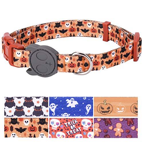 PetANTastic Best Adjustable Medium Dog Collar Durable Soft & Heavy Duty with Halloween Design, Outdoor & Indoor use Comfort Dog Collar for Girls, Boys, Puppy, Adults ()