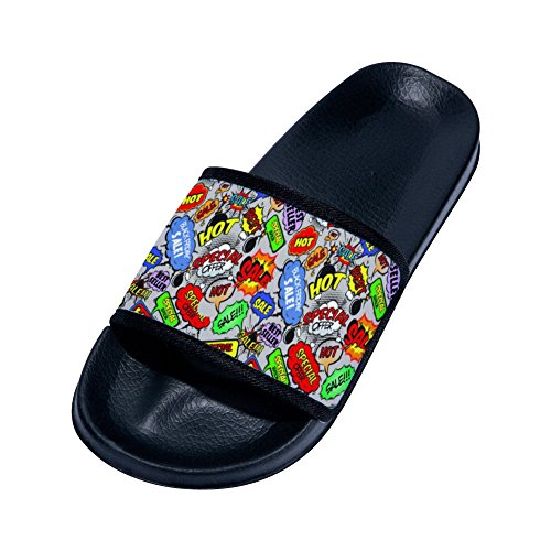 Slip Slippers Non for Sale Ad Black Drying Post Womens Street Slippers Graffiti Quick Buteri wXY0q0