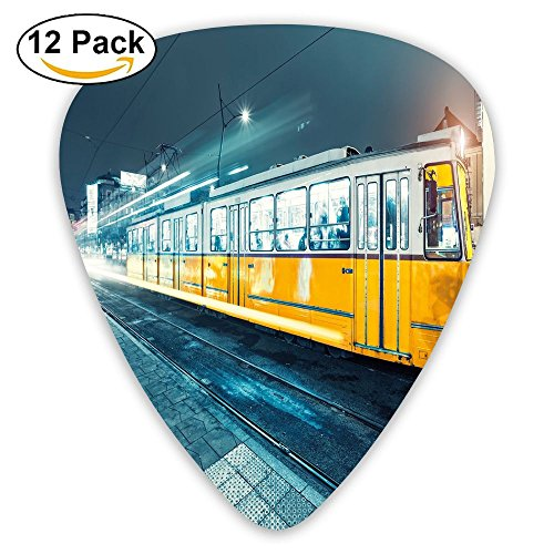 Newfood Ss Old Tram In The City Center Vintage Urban Train Station European Town Guitar Picks 12/Pack -