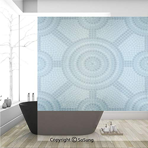3D Decorative Privacy Window Films,Abstract Aboriginal Dot Painting Ancient Native Ethnic Cultural Art in Australia,No-Glue Self Static Cling Glass Film for Home Bedroom Bathroom Kitchen Office 36x36