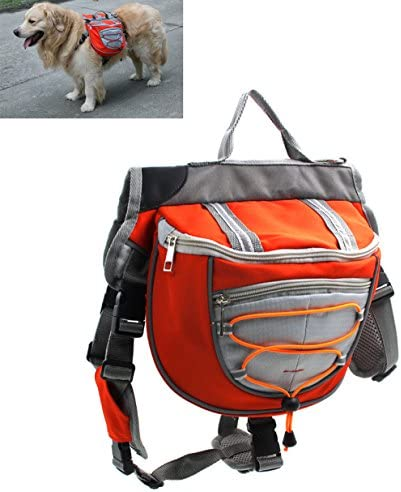 Xiaoyu Dog Backpack Adjustable Saddle Bag Harness Carrier for Traveling Hiking Camping