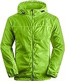 Wantdo Men's Lightweight Windproof Jacket UV Protect Quick Dry packable Skin Coat Green US XL