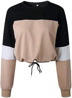 CYL Moda Autunno E Inverno Abbigliamento Donna Morbido Confortevole Tether Traspirante Cucitura Manica Lunga Girocollo Cappotto Allentato Felpa Donna