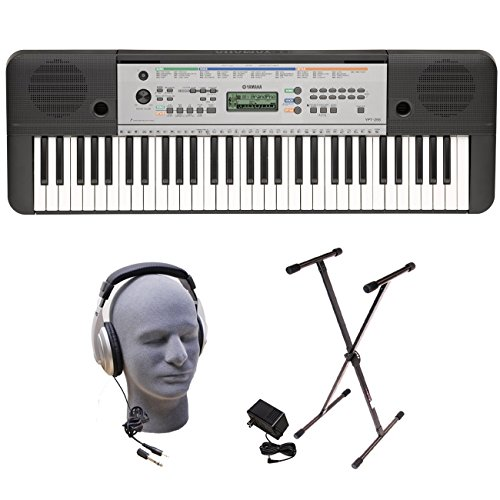 Yamaha YPT255 61-Key Keyboard Pack with Headphones, Power Supply, and Stand (Keyboard Key Lock)