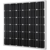HQST 150 Watt 12 Volt Monocrystalline Photovoltaic PV Solar Panel 12V Battery Charging