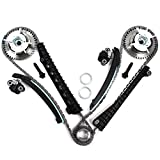 TK3060-VVT Timing Chain Kit, Camshaft Phasers with Mounting Bolts (Both Left & Right Side) for 04-08 Ford 5.4L (3-Valve) Engine Expedition F-150 F-250 Super F-350 Super / Lincoln