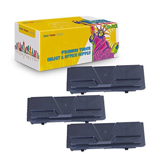 New York TonerTM New Compatible 3 Pack TK140 TK142 TK144 High Yield Toner for Kyocera-Mita - FS 1100   1100N . -- Black