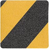 "ProTapes Pro Grit Safety Stripes Natural Rubber Non-skid Grit Tape, 60' Length x 2"" Width, Black and Yellow (Pack of 1)"