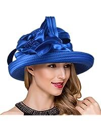 7189dadb7d610 Lady Church Derby Dress Cloche Hat Fascinator Floral Tea Party Wedding Bucket  Hat S051