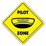 PILOT ZONE Sign xing gift novelty plane job careers teacher jacket shirt glasses