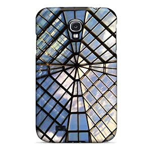New Wade-cases Super Strong Met Glass Ceiling Tpu Case Cover For Galaxy S4