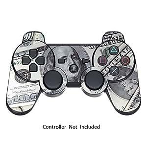 247Skins - Skin para mando de Playstation 3, diseño de billetes