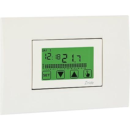 vemer Termostato Reloj ve457800 Iride 230 Semana Programación empotrable montaje Reloj Termostato Con Multicolor de fondo