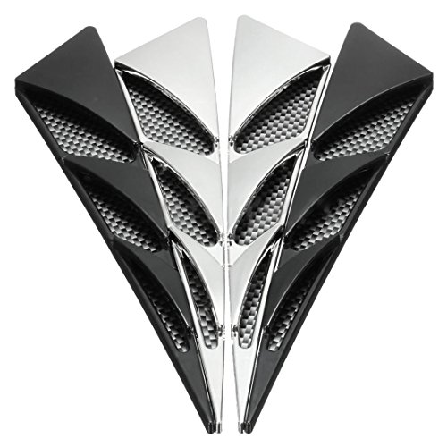 - TOOGOO 1 Pair ABS Universal Car Decorative Air Intake Side Flow Hood Vent Cover Sticker