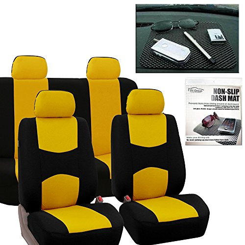 yellow mustang car seat covers - 9