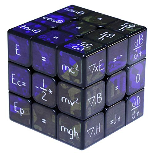Math Cube 3x3,Warina Educational Cube,Speed Cube,Puzzle 3x3,Updated UV Printed Version,Stickerless, More Durable.
