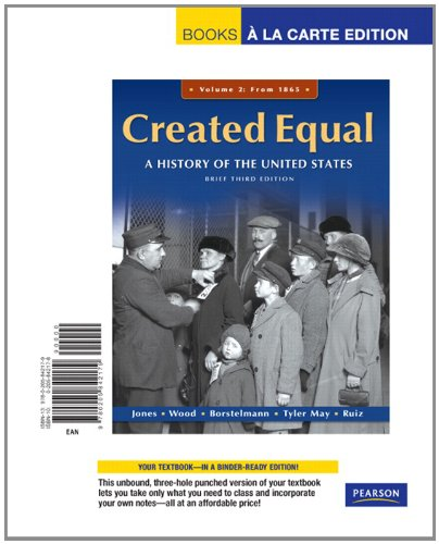 Created Equal, Brief Editon, Volume 2, Books a la Carte Edition (3rd Edition)