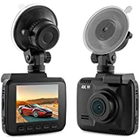 Dash Cam Car DVR Dashboard Camera Recorder with 4K FHD, Built-In WiFi & GPS, APP Support, G-Sensor, 2.4 LCD, Wide Angle Lens, Motion Detection, Loop Recording, Parking Monitor Etc