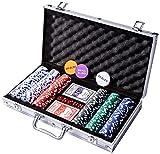 KOVOT 300 Chip Dice Style Poker Set In Aluminum Case (11.5 Gram Poker Chips)