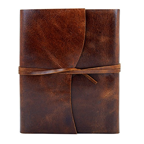 (Birthday Gift Ideas Leather Journal Diary Writing Notebook Personal Travel Diary Unlined Paper Sketchbook Doodle Art Book Recipe Book Organizer 8 x 6 Inches Anniversary Gifts For Him & Her    )