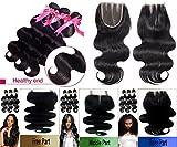 3 Bundle Pack virgin Remy BODY WAVE Natural Black #1B -14