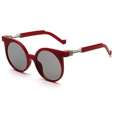 Alger Lunettes de soleil mode Vintage Style rond cadre polarisé UV400  unisexe conduite lunettes de voyage 6ecfa38cc4cc