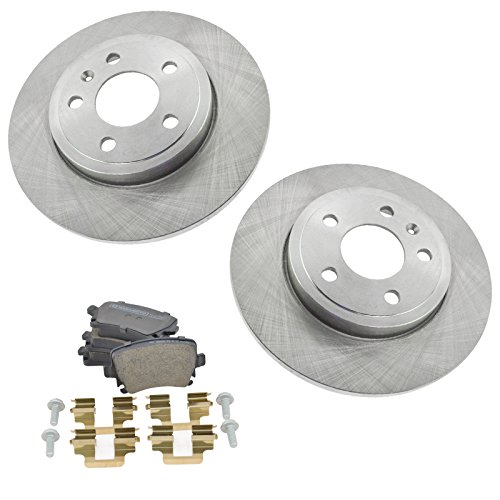 (Rear Ceramic Brake Pad & 288mm Rotor Kit Set Direct Fit for Audi A4)